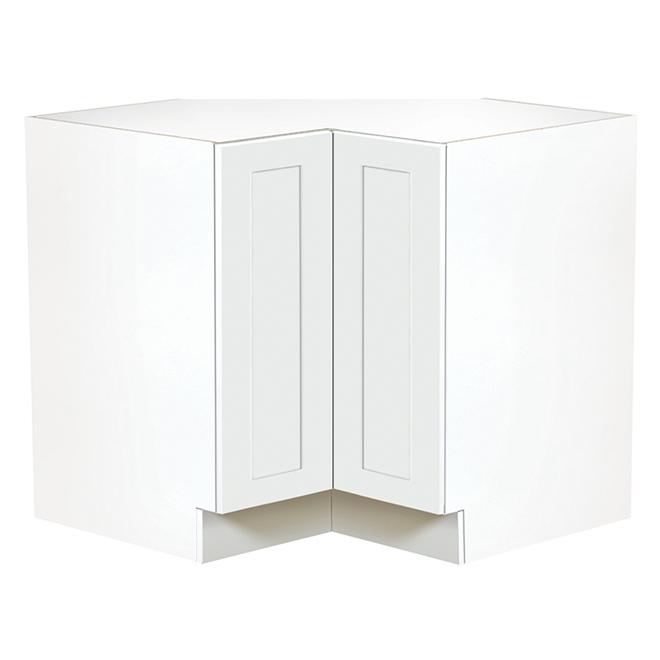 white corner kitchen cabinet dining room light fixtures ebsu 1 door 36 tlbc36 blsd rona