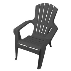 Outdoor Stackable Chairs Canada Vintage Metal Gracious Living Adirondack Chair 11453 Rona