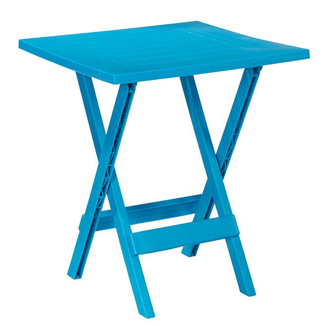 table d appoint pliante pour patio adirondack 19 po x 19 po bleu sarcelle
