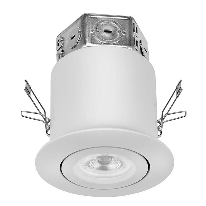 gimbal trim recessed light kit led 4 white