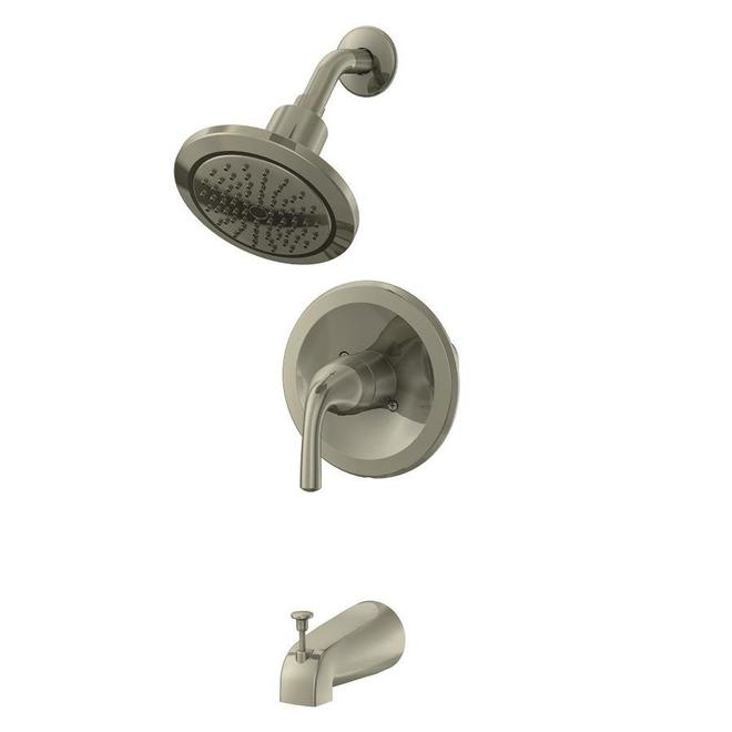 allen roth 1 handle tub shower faucet brushed nickel