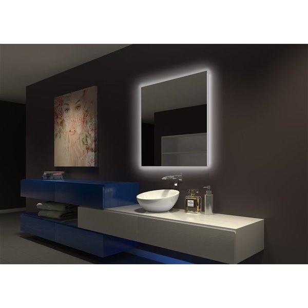 Paris Mirror Miroir Original Retroeclaire 36 X 36 6000k Orig36366000d Rona