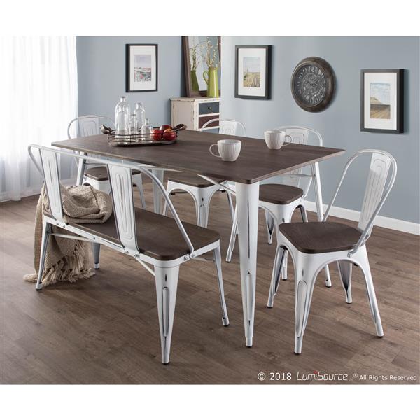 table de cuisine oregon 59 x 36 x 30 5 bois expresso