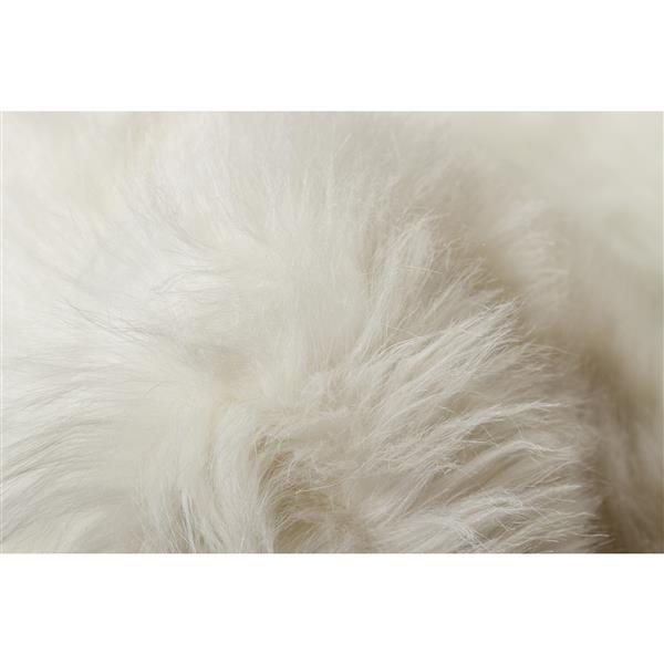 tapis arlington en fausse fourrure 6 blanc