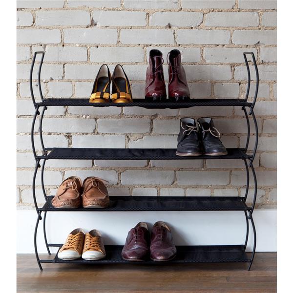 umbra imelda shoe rack 2 pk black