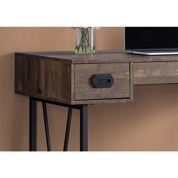 bureau en bois recycle 48 brun