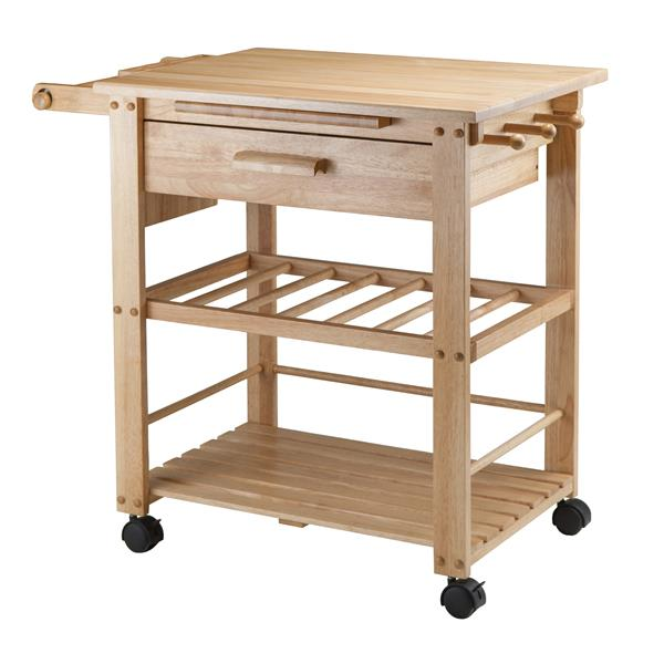 winsome wood finland kitchen cart 35 in x 31 5 in wood natural