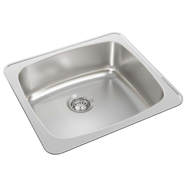 wessan stainless steel drop in kitchen sink 18 in x 20 in x 7 in