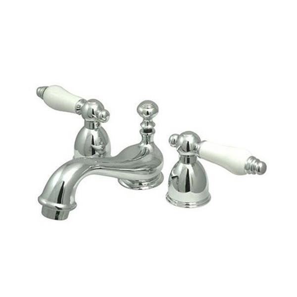 elements of design chicago 4 in chrome porcelain lever handle mini widespread bathroom faucet