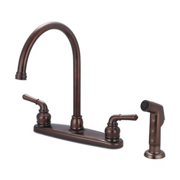 olympia faucet accent oil rubbed bronze kitchen faucet with sprayer