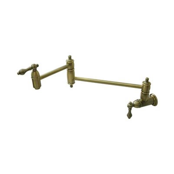 elements of design restoration antique vintage brass pot filler kitchen faucet