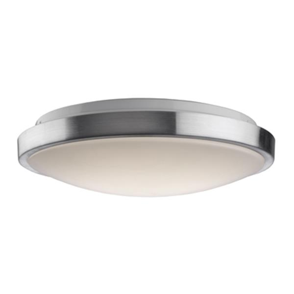 artcraft lighting low profile led flushmount brushed nickel ceiling light