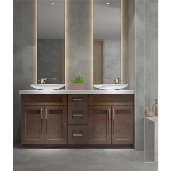 cowry cabinets espresso 66 in vanity base