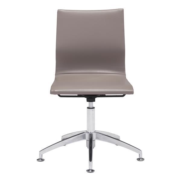 chaise de bureau glider de zuo modern 19 po x 18 5 po simili cuir beige