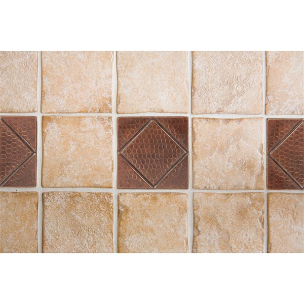 premier copper products oil rubbed bronze copper tile 4 in x 4 in 8 pack