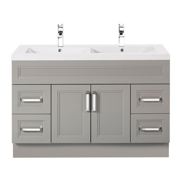 cutler kitchen bath urban collection bathroom vanity double sink 48 gray