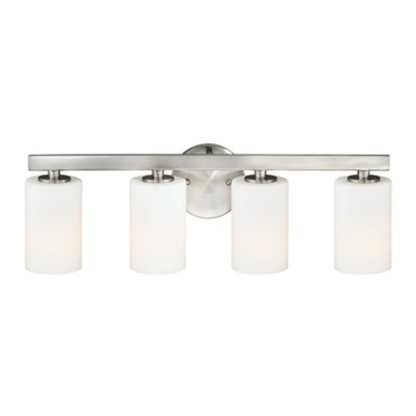 Cascadia Glendale 4 Light Nickel Bathroom Vanity Fixture W0229 Rona