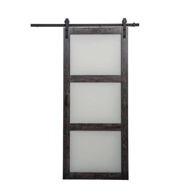 Reliabilt 36 In X 84 In Frosted Glass Sliding Barn Door And Hardware Kit Bd061w01ia3tge36084 Rona