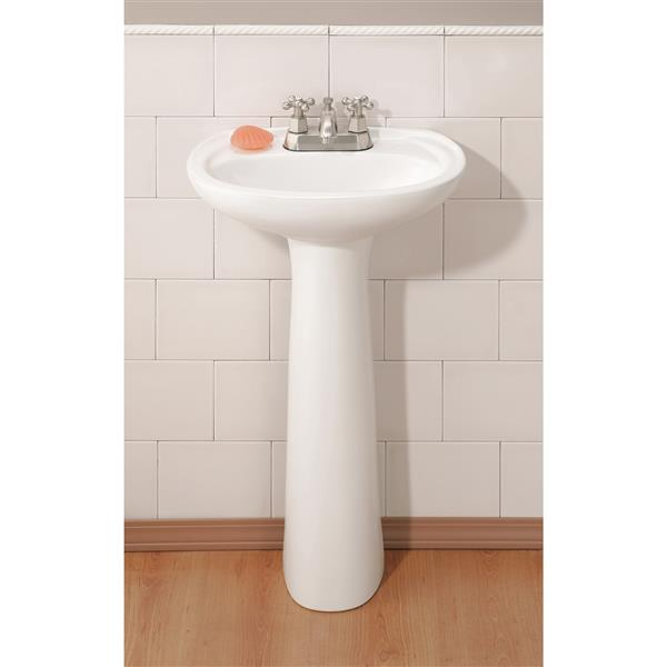 cheviot fiore pedestal bathroom sink 18 1 4 in x 14 in x 30 in white