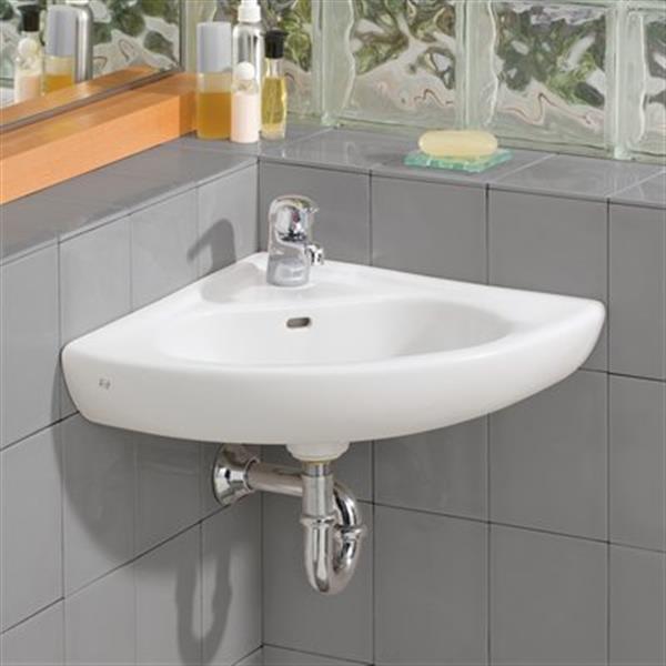 cheviot wall mount corner bathroom sink white