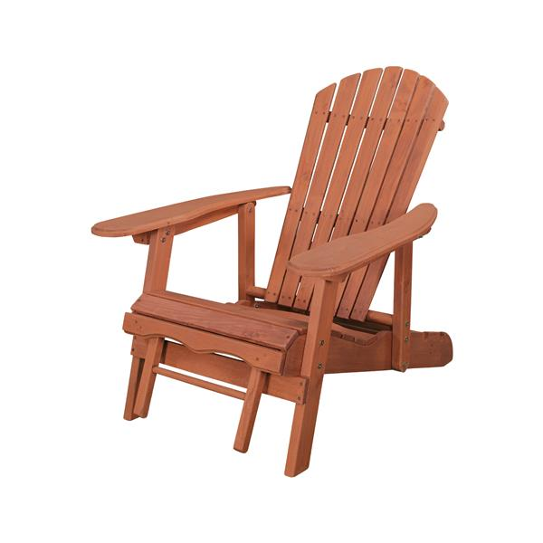 leisure season reclining adirondack chair with pull out ottoman