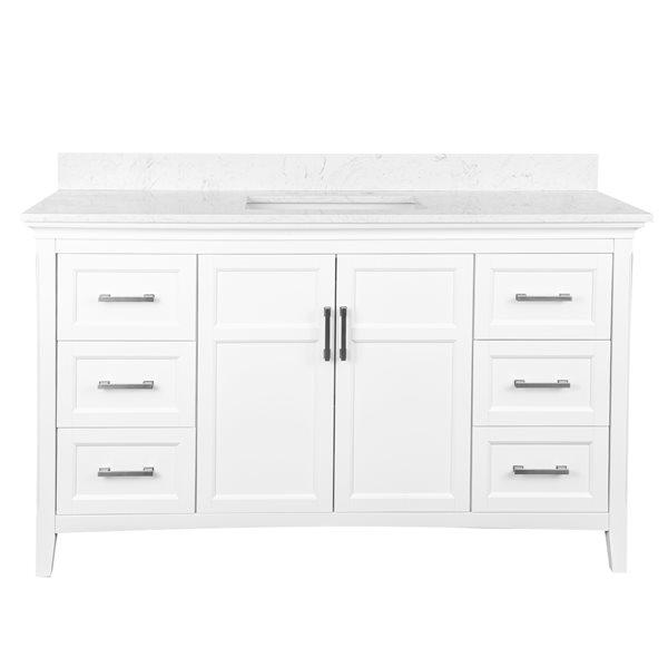 ensemble meuble lavabo abbott 58 x 33 25 mdf blanc