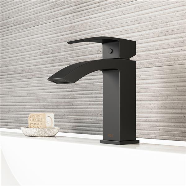 robinet de salle de bain monotrou satro noir mat