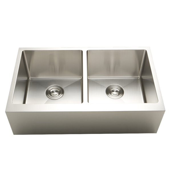 american imaginations undermount double sink 36 x 19 stainless steel