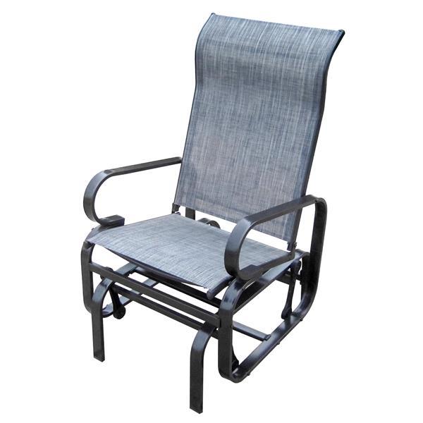 henryka outdoor glider chair grey