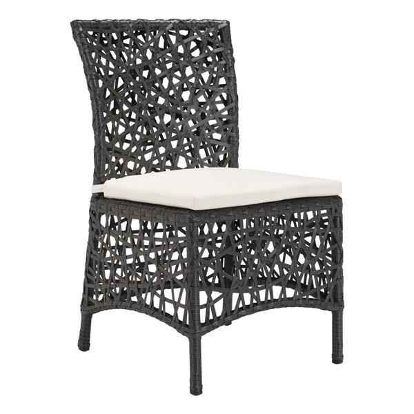 zuo modern santa cruz outdoor chair 34 5 in x 19 5 in terra brown