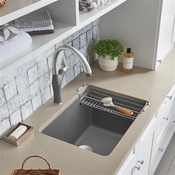 blanco liven single bowl laundry sink grey