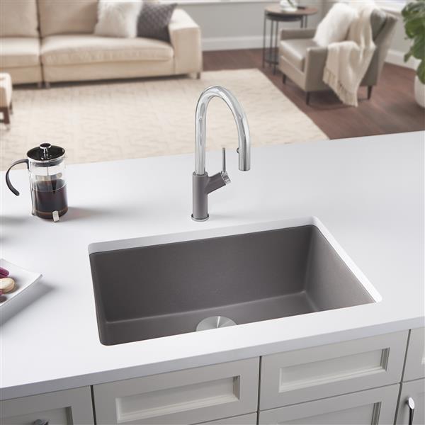 blanco precis single kitchen sink grey