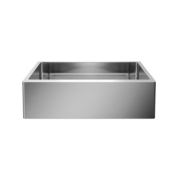 blanco quatrus single farmhouse sink chrome 32 in