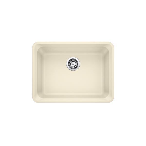 blanco vision undermount kitchen sink off white 24 in