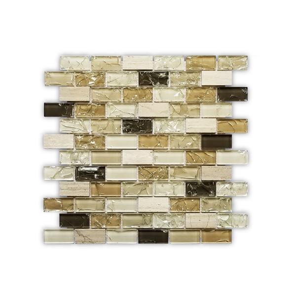 jl tile bristol backsplash tile 12 in glass beige brown 10 pack