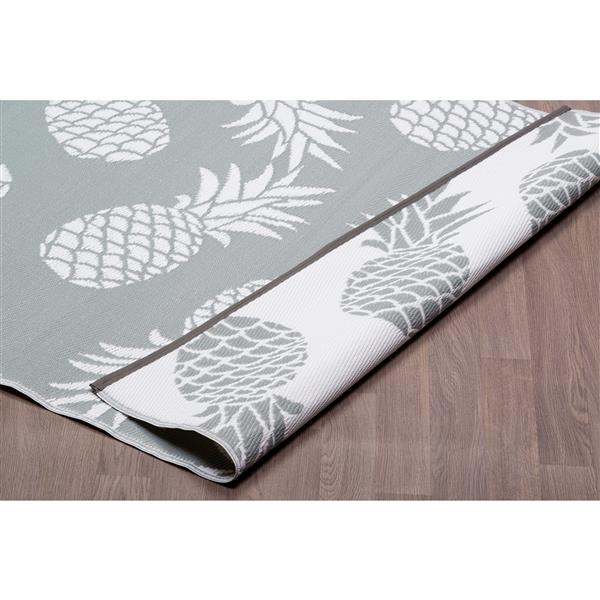 tapis ananas pour l exterieur en plastique gris 6 x9