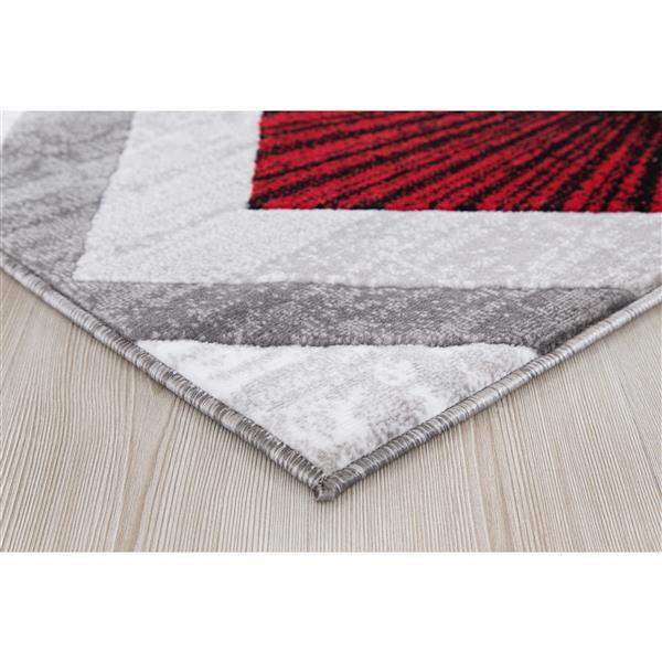 tapis diared 8 x 11 polypropylene gris rouge
