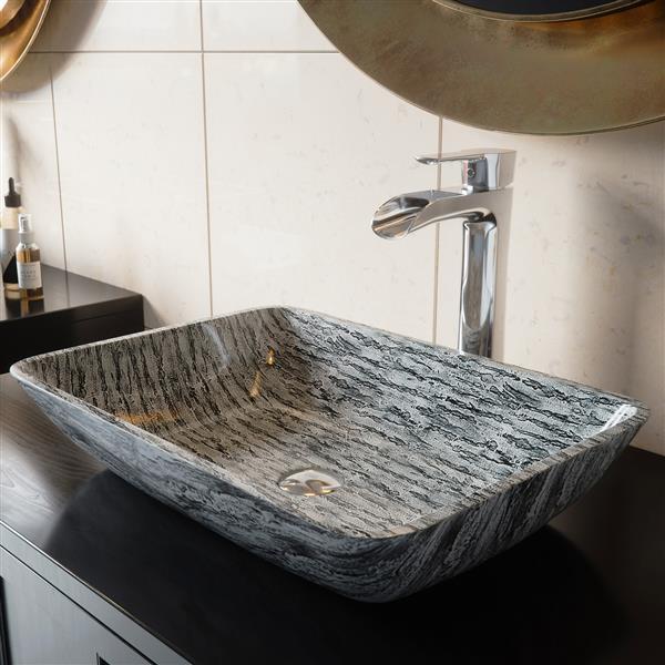 vigo glass vessel bathroom sink multicoloured