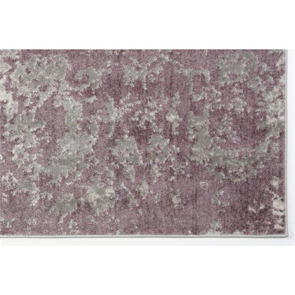 tapis moderne cherine la dole rugs md 7 x 10 prune