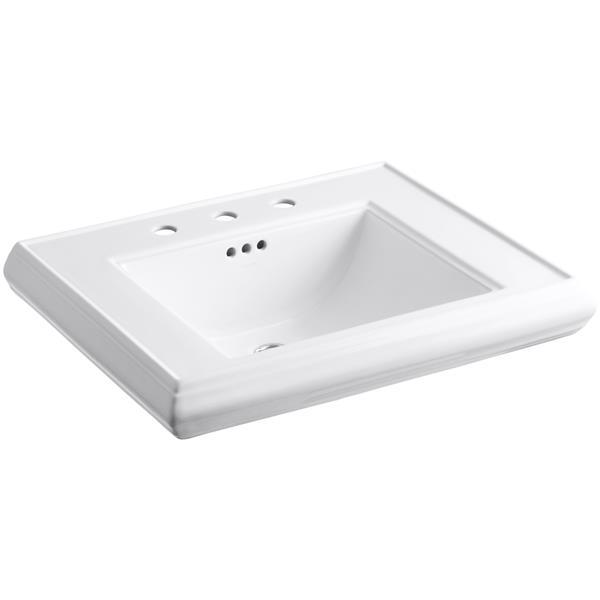 kohler memoirs pedestal bathroom sink basin vitreous china