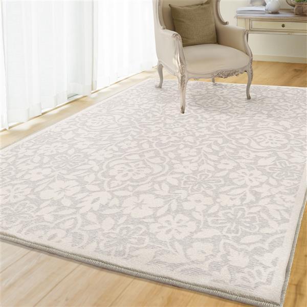 tapis summer 130 polypropylene naturel blanc casse