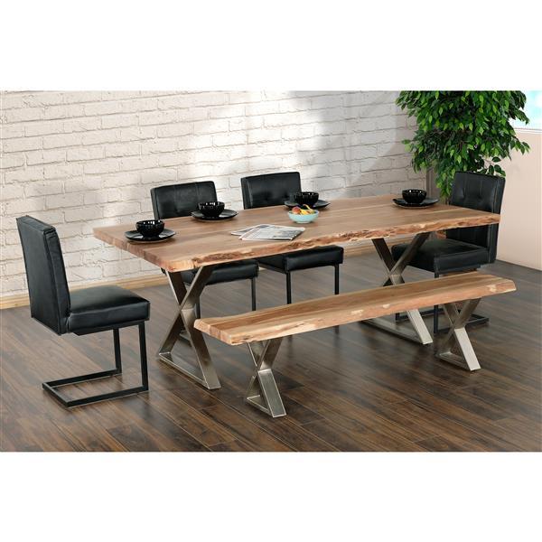 table salle a manger loomie en bois d acacia et metal 82