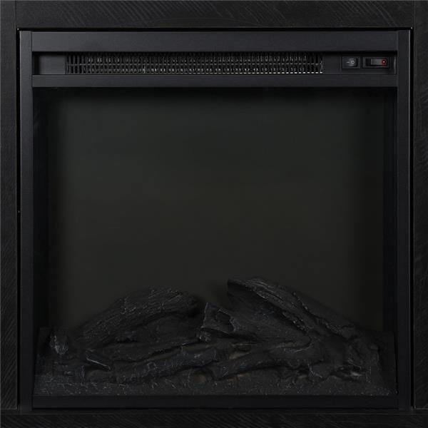 meuble tele avec foyer electrique chicago noir