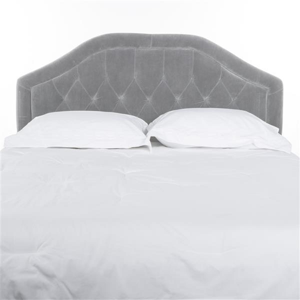 tete de lit en tissu capitonne felix de best selling home decor grand lit gris pale