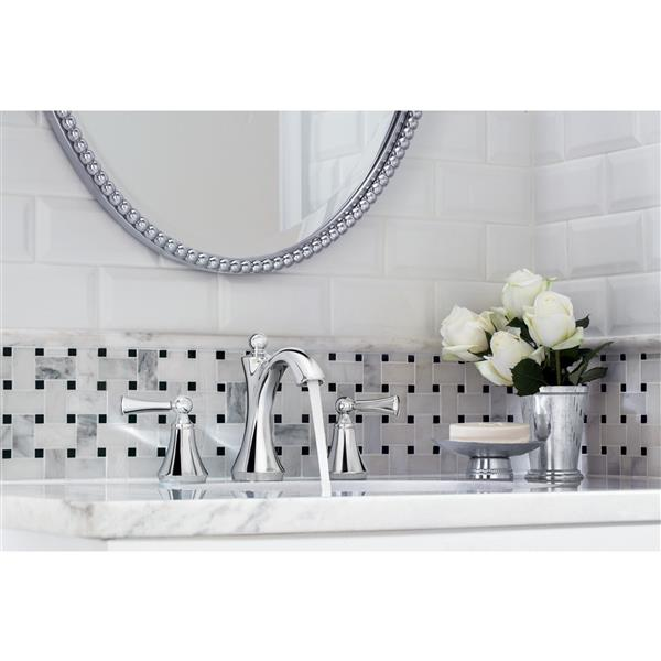 moen wynford bathroom faucet two handle chrome valve sold separately