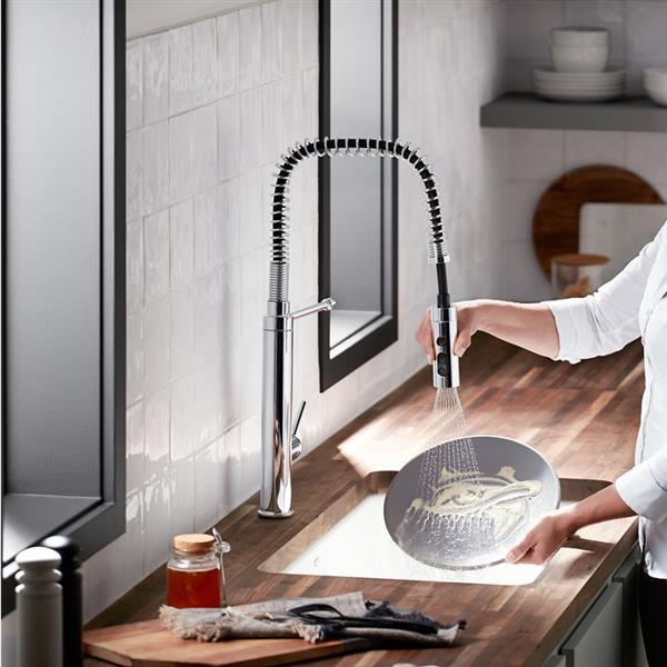 kohler purist high arc kitchen sink faucet 1 handle matte black