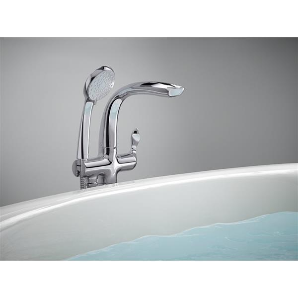 robinet de baignoire avec douchette refinia de kohler nickel brosse