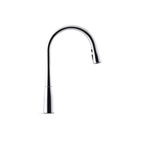 kohler simplice single hole or three hole kitchen sink faucet