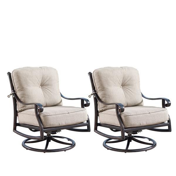 oakland living rocking patio chair 34 2 in x 33 8 in light beige set of 2