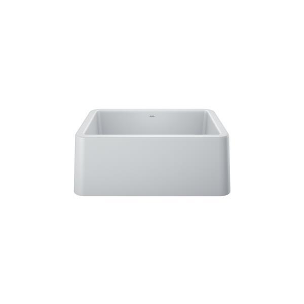 blanco ikon single bowl farmhouse sink 27 in white